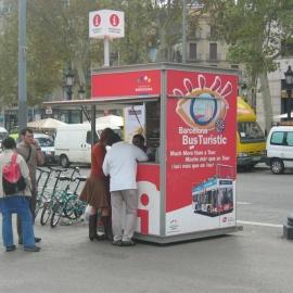 Quiosco Punto de Informacion Bus Turistic Barcelona