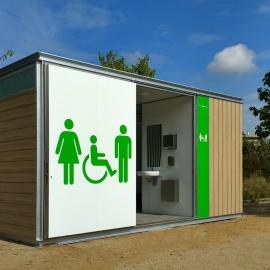 Chiosco wc personalizzabile