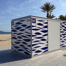 Chiosco wc bagni wc personalizzabile per spiagge