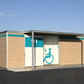Chiosco in legno con WC WC