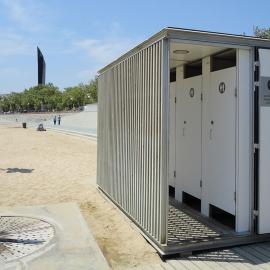 Chiosco WC WC per spiaggia