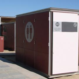 Modulo con servizi igienici WC per spiagge
