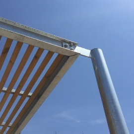 Modular customizable pergola Havana steel and wood