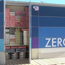 Kiosk storage for bar