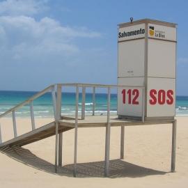 Modulo de salvamento para playa
