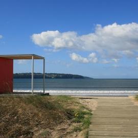 Quiosco de salvamento para playa
