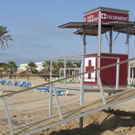 Caseta de salvamento para playa