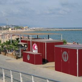 Quiosco Bar Playa Barcelona aseos