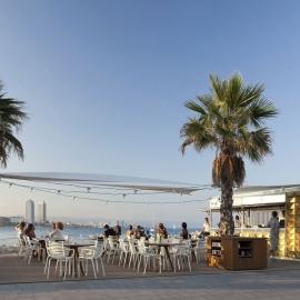 Kiosko Bar en la Playa de Barcelona