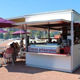 Quiosco Bar metalico helados