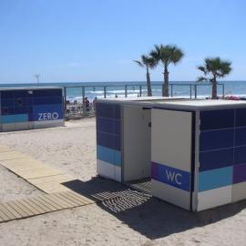 Chiosco wc bagni wc per spiaggia