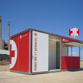 Rescue house for beach