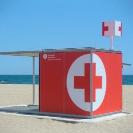 Beach rescue kiosk