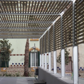 Havana wood and steel pergola