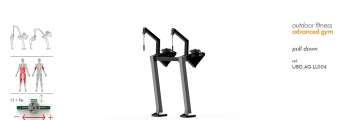 pull down advanced outdoor fitness gym