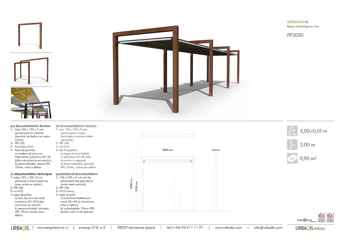Construction Pergola Bois Plan manufacturer of pergola u system - modular pergolas urbadis