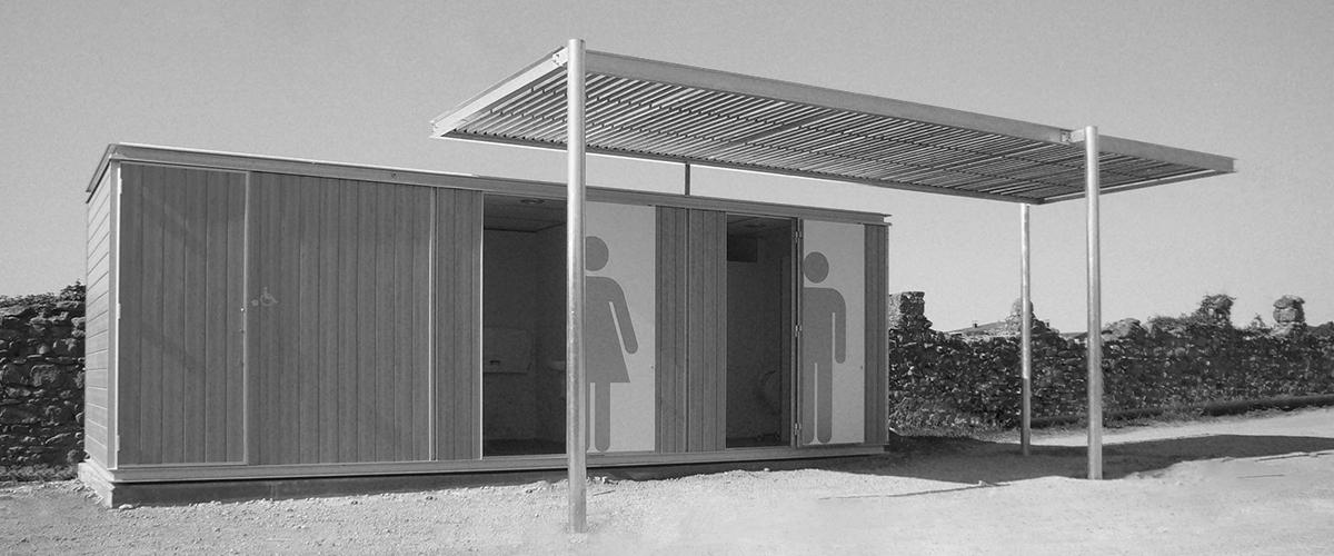 Chiosco wc in legno modello Havana